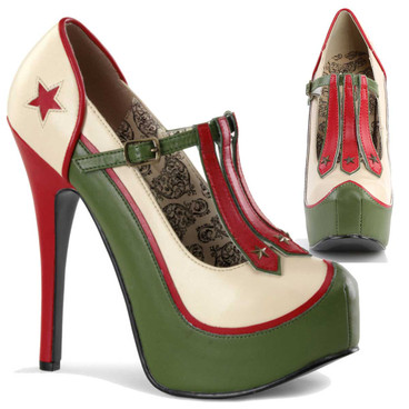 Teeze-43, 3-Stars Military Platform Pump  | Bordello