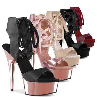 Stripper Shoes Delight-600-14 , Lace Up Ankle Sandal