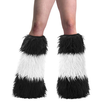 YETI-03, UV Fur Boot Leg Warmers color black/white