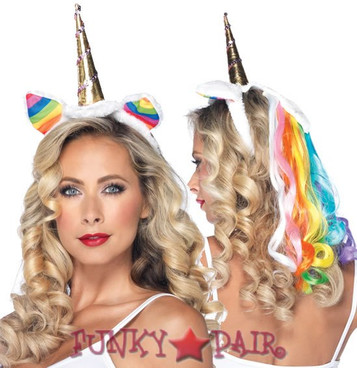 A1962, Rainbow Unicorn Headband