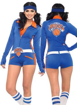 LA-N83964, Sexy NY Knicks Romper Romper Costume