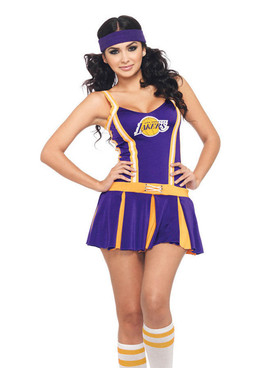 Lakers cheerleader costume (N83968)