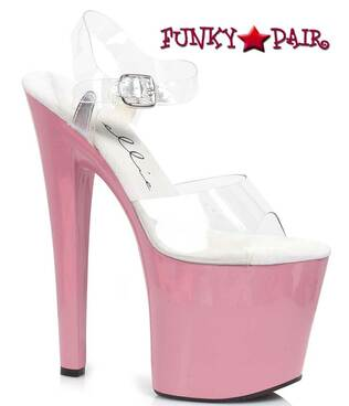 "Ellie Shoes | 821-Brook 8"" Platform Pole Dancing Shoes"