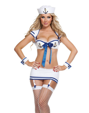 S2032, Sexy 2pc. Anchors Away Costume