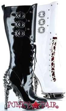 Hyperion, 5 Inch Spinal High Heel Knee High Boot