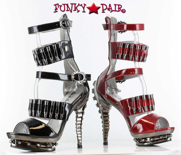 Razor Heel with Multi Bullet Straps   Hades Shoes