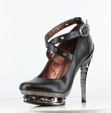 Razor Metallic Spine Heel   Hades TRITON Color black front view