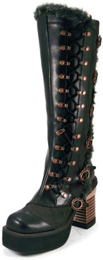 Hades   Langdon Steam Engine Knee High Boots