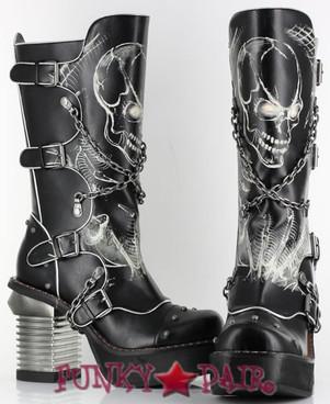 Spawn, 3.5 Inch Chunky High Heel Steampunk Boots