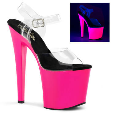 UV Reactive Exotic Dancer Shoes | Pleaser Taboo-708UV