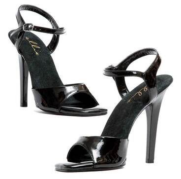 "Black 5"" Ankle Strap Sandal Ellie Shoes 