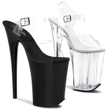 Extreme 9 Inch Heel Exotic Dancer Ankle Strap Platform | Pleaser Infinity-908