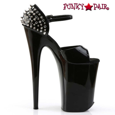 Pleaser Infinity-912SP, 9 Inch Heel D'Orsay Sandal with Spikes