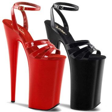 Beyond-012, 10 Inch Stripper Shoes Wrap Around Ankle Strap Sandal | Pleaser Shoes