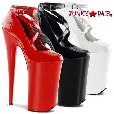 "Pleaser | Beyond-087, 10"" Criss Cross Ankle Strap Pump"