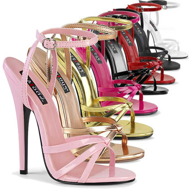 """Domina-108, 6"""" Stiletto Heel Wrap Around Knotted Strap Sandal by Pleaser USA"""