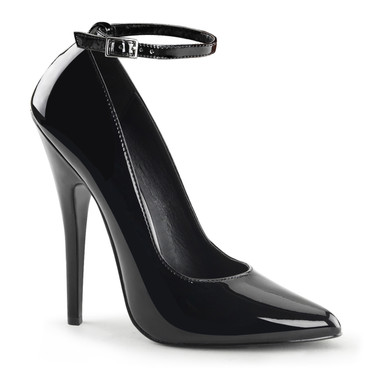 6 Inch Fetish Pump With Ankle Strap  Devious | Domina-431,