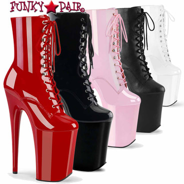 Pleaser | Infinity-1020, 9 Inch Exotic Dancer Platform Ankle Boots
