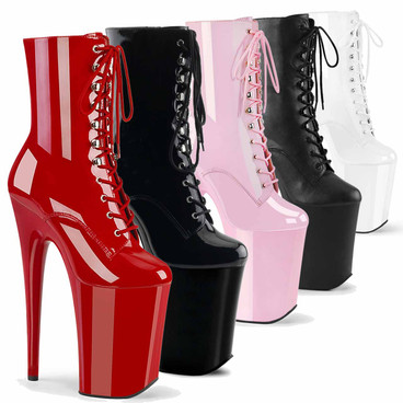 Infinity-1020, 9 Inch Exotic Dancer Platform Ankle Boots by Pleaser