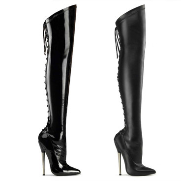 Fetish Thigh High Boots Devious Boots | Dagger-3060