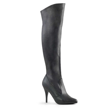 Pleaser Boot Vanity-2013, Pull On Cuffed Knee Boot