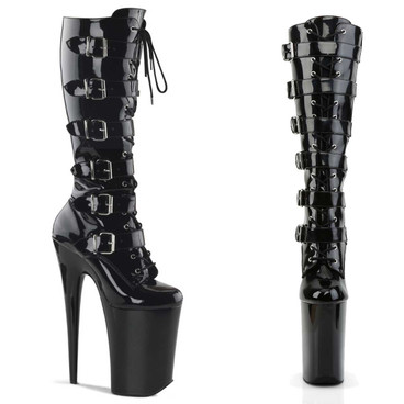 "Infinity-2049, 9"" Lace up with Buckles Knee High Boots 