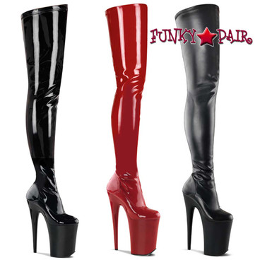 Pleaser   Infinity-4000, 9 Inch Stretch Crotch Boot
