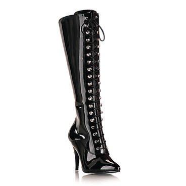 Vanity-2020, 4 Inch Lace-up Knee Boots * Made by PLEASER Shoes