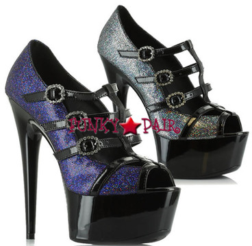 609-Angelina, 6 Inch High Heel with 1.75 Inch Platform Peep Toe Pump Made by ELLIE Shoes