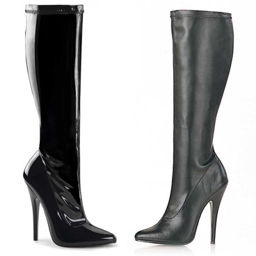 6 Inch Stiletto Knee High Boots Devious   Domina-2000