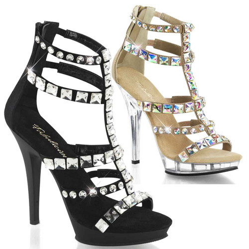 "Fancy 5"" Jeweled T-strap Sandal 