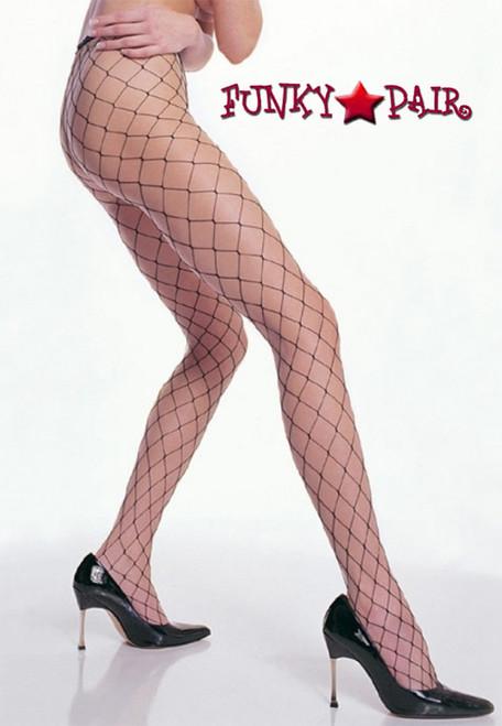 Leg Avenue Plus Size Fence Net Pantyhose (9905Q)