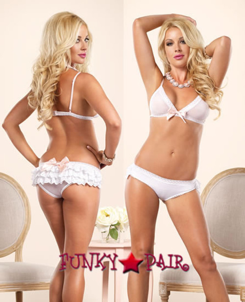 LA81437, Sheer Ruffle Bikini Set