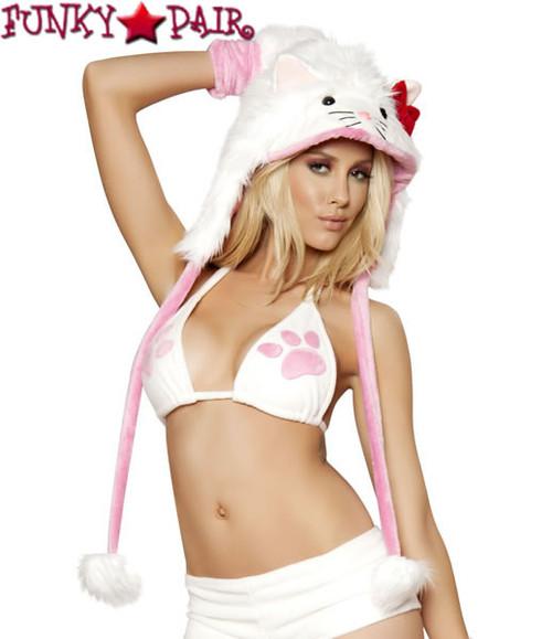 CC100, White Kitty Cat Hood