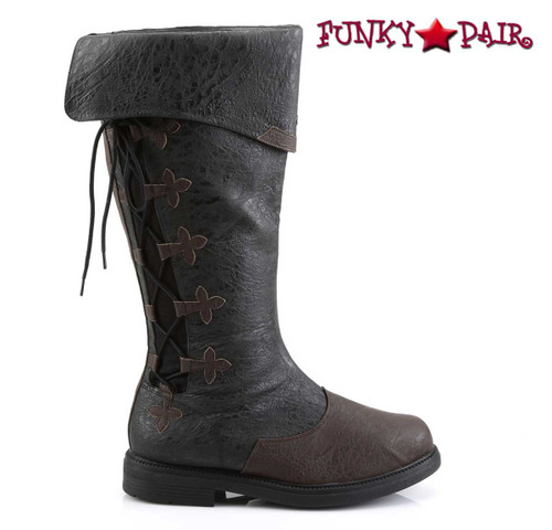 Funtasma | Captain-110, Men's Knee High Pull-On Boots | Side View