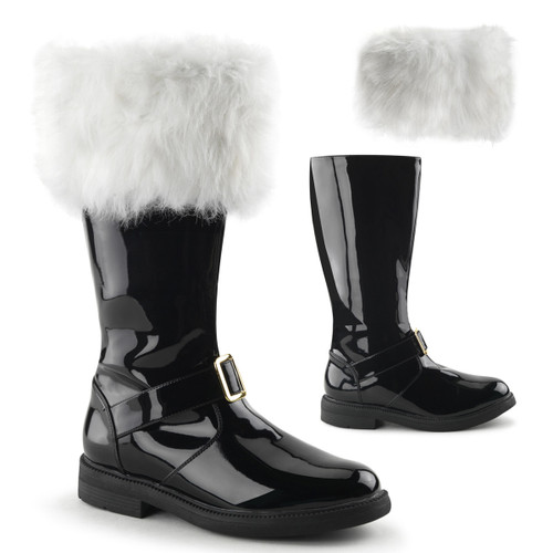 Men's  Santa-102 Boots with Removable Cuffs | Funtasma