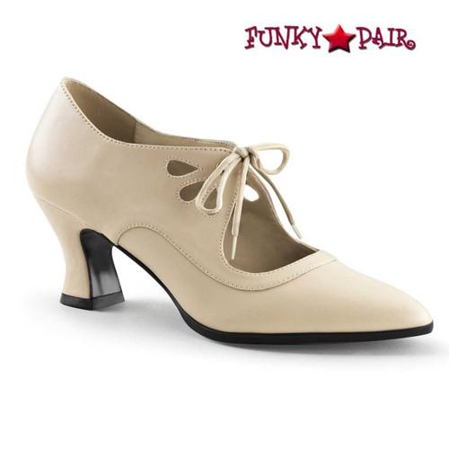 Funtasma Victorian-03,  Cream Kitten Heel Costume Pump