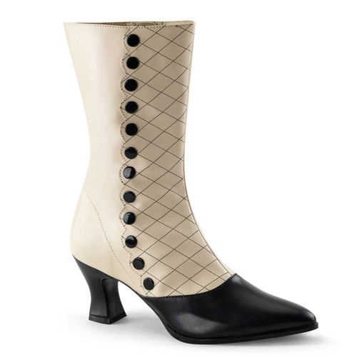 VICTORIAN-123 Spectator Calf Boots | Funtasma