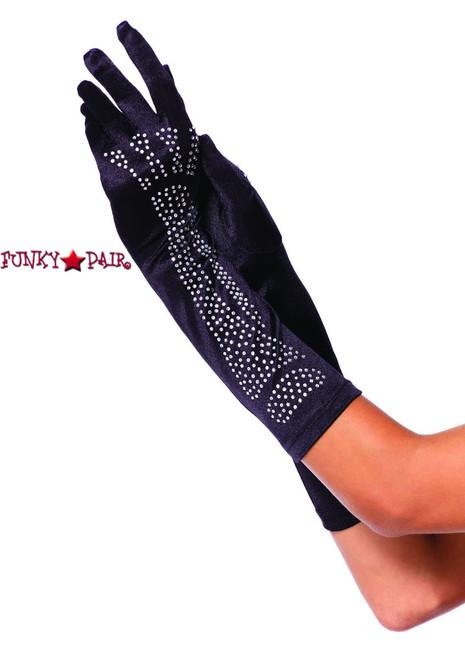 LA-2710, Rhinestone Bone Glove