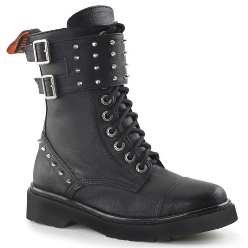 Rival-309, Woman Combat Boots with Spike Women Punk boots Mady By Demonia