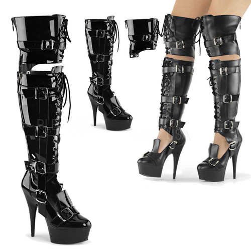 Over the Knee Boots Pleaser Delight-3068,