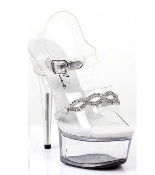 "Ellie Shoes | 609-Tiffany 6"" Rhinestones Sandals"