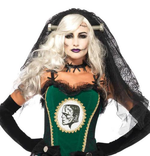 LA2754, Bride of Frankenstein Lace Vail