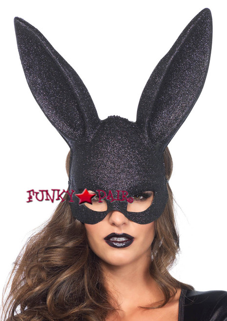 LA3760, Glitter Masquerade Rabbit Mask