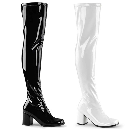 Gogo-3000, Thigh High Go Go Boot | Funtasma