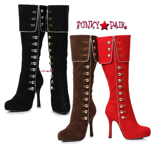 "420-Elda, 4""  Knee High Boots with Buttons Costume Boots 