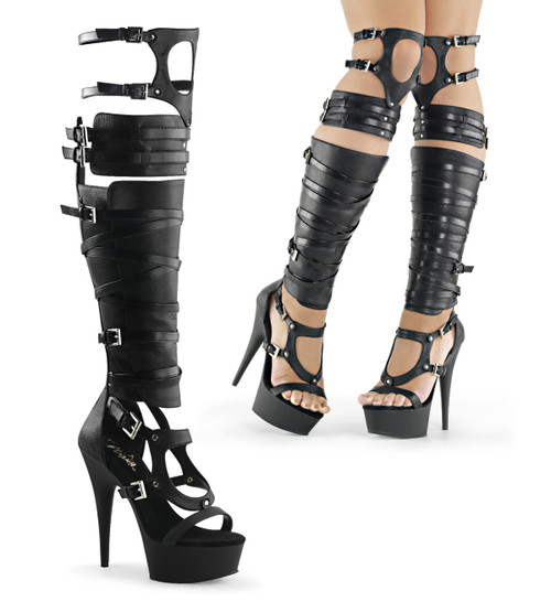 Delight-600-50 Strappy Gladiator Boot  | Pleaser Shoes