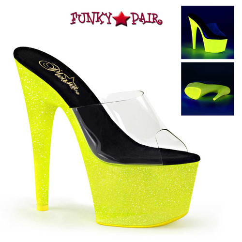 Adore-701UVG, 7 Inch Slide with Neon Yellow UV Reactive