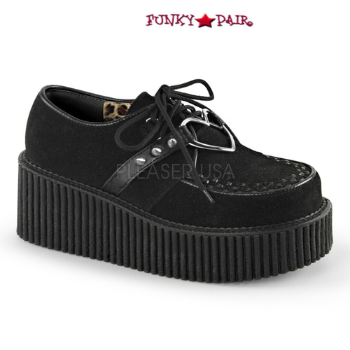 Creeper-206, 3 inch platform creeper with Heart Design
