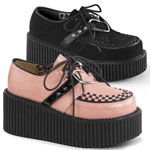 Demonia | Creeper-206, Heart O-Ring Platform Creeper